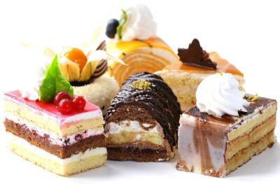 Adesivo Assorted mini bolos diferentes com creme, chocolate e bagas