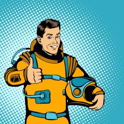 Adesivo Astronauta conceito, estilo quadrinhos