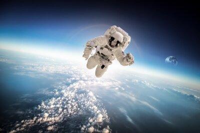 Adesivo Astronauta no espaço sideral