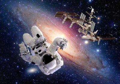 Adesivo Astronauta, spaceman, sci, fi, exterior, espaço, shuttle, estação, espaçonave. Elementos desta imagem fornecida pela NASA.