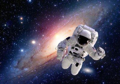 Adesivo Astronauta terno astronauta espaço sistema solar universo pessoas. Elementos desta imagem equipada pela NASA.