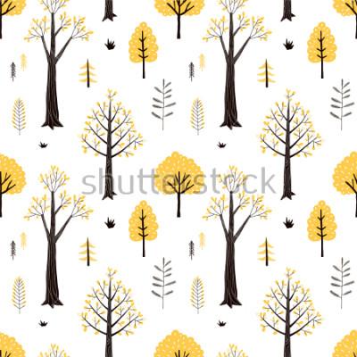 Adesivo autumn forest pattern