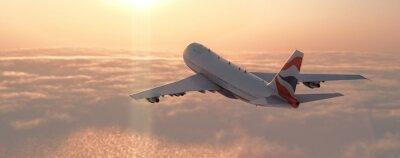 Adesivo Avião comercial