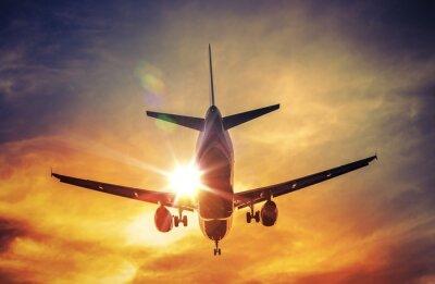 Adesivo Avião eo Sol