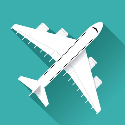 Adesivo Avião, ícone, desenho