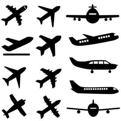 Adesivo Aviões em preto