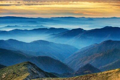 Adesivo Azul, montanhas, colinas