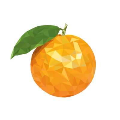 Adesivo Baixo poli laranja