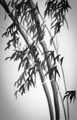 Adesivo bambu árvores