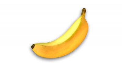 Adesivo Banana amarela, frutas isoladas no fundo branco