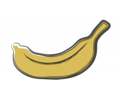 Adesivo banana doodle