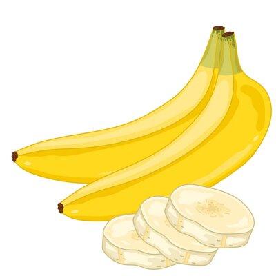 Adesivo Banana isolado no fundo branco.