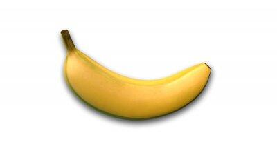 Adesivo Banana, tropicais, fruta, isolado, branca, fundo, lado, vista