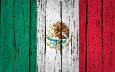 Adesivo Bandeira do México Grunge