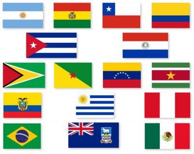 Adesivo Bandeira do Sul Set americana