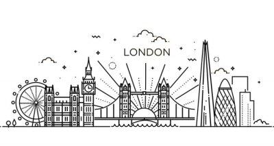 Adesivo Bandeira linear da cidade de Londres.