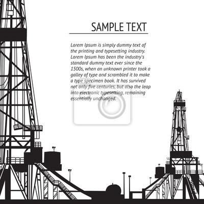 Adesivo Bandeira Plataforma de petróleo para o seu texto.