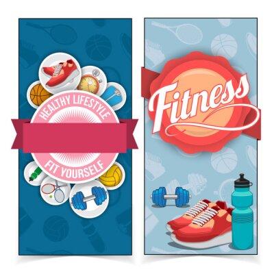 Adesivo Banners estilo de vida ativo.