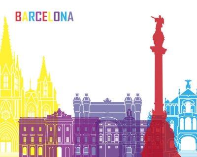 Adesivo Barcelona skyline pop