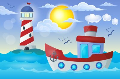 Adesivo Barco imagem Tema 2