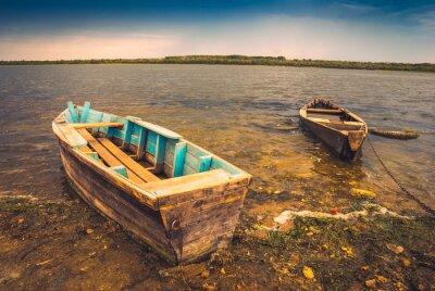 Adesivo Barcos em um river_2