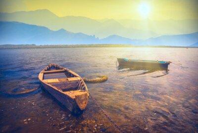 Adesivo Barcos em um river_6