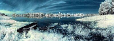 Adesivo barcos no rio