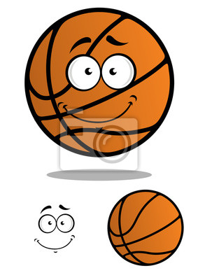 basquete sorrindo personagem de desenho animado bola laptop adesivos
