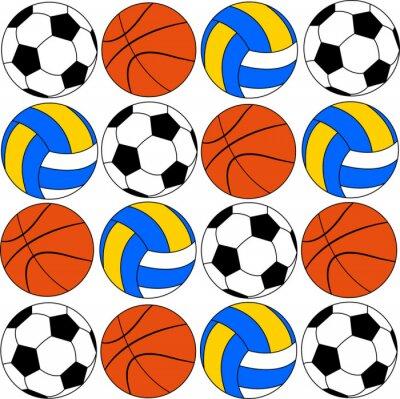 Adesivo Basquetebol ícones futebol e voleibol