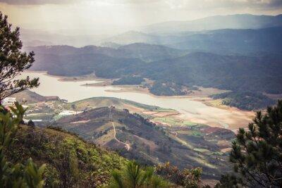 Adesivo Bela paisagem de montanha