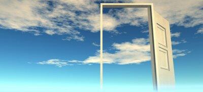 Adesivo Bela vista do céu. Portas para o céu.