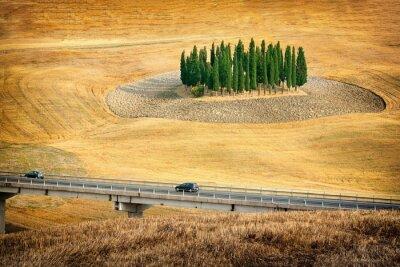 Adesivo Belas vistas da paisagem de verão na Toscana