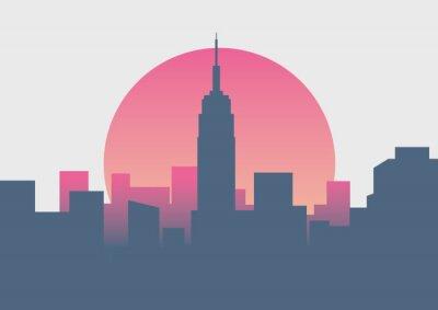 Adesivo Belo nascer do sol de Nova York nascer do sol mínima
