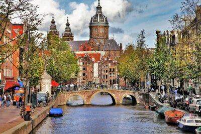 Adesivo belos canais de Amesterdão