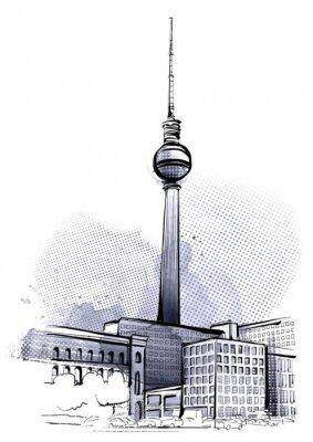Adesivo Berlim Esboço