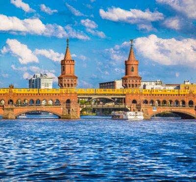 Adesivo Berlim Oberbaumbrücke, Friedrichshain-Kreuzberg, Alemanha