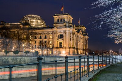Adesivo Berlim Reichstag à noite