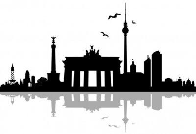 Adesivo Berlim Skyline Schatten