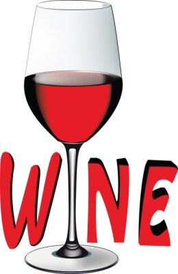 Adesivo Bicchiere di vino rosso