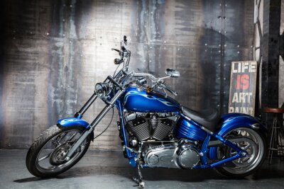 Adesivo bicicleta de estrada azul chrome