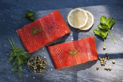 Adesivo Bifes de salmão selvagem