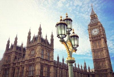 Adesivo Big Ben e as casas do parlamento em Londres