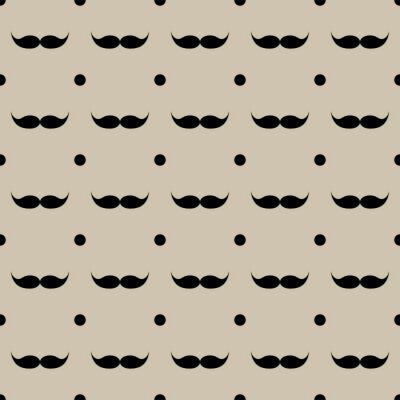Adesivo Bigode, seamless, Padrão, vetorial, Ilustração, eps, 10