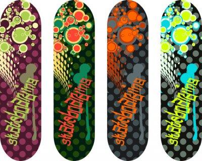 Adesivo Bloco de desenho do skate vector com graffiti tags e formas abstratas