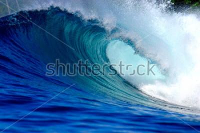 Adesivo Blue surfing wave