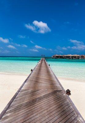 Adesivo Boardwalk à lagoa nas Maldivas