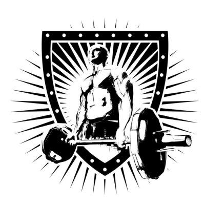 Adesivo bodybuilder escudo