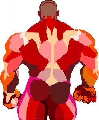 Adesivo Bodybuilder muscular em uma academia