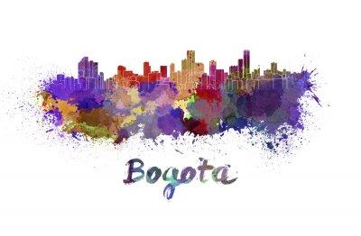 Adesivo Bogotá horizonte em aquarela