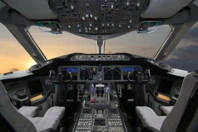 Adesivo Boing 787 Dreamliner, Cabina do piloto